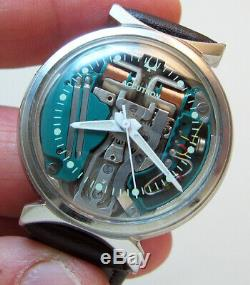 Rare Serviced 214h Accutron Spaceview Stainless Steel Tuning Fork Men's Watch M6