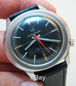 Rare Serviced 2180 Accutron Bulova Stainless Steel Tuning Fork Men's Watch N0