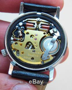 Rare Serviced 218d Accutron Bulova Stainless Steel Tuning Fork Men's Watch N2