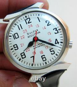 Rare Serviced 218d Accutron Railroad Stainless Steel Tuning Fork Men's Watch M7