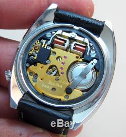 Rare Serviced 2241 Accutron Accuquartz Stainless Steel Tuning Fork Men Watch N3