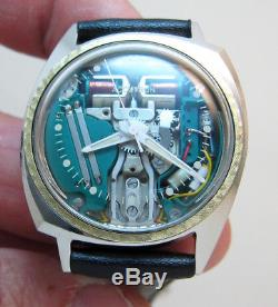 Rare Serviced Accutron 214 Spaceview Stainless Steel Tuning Fork Men's Watch M6