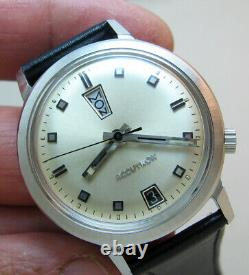 Rare Serviced Bulova Accutron 2182 Stainless Steel Tuning Fork Men's Watch M9