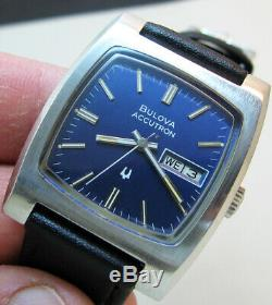 Rare Serviced Bulova Accutron 2313a Stainless Steel Tuning Fork Men Watch N5