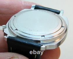 Rare Serviced Bulova Accutron Tv 2181 Stainless Steel Tuning Fork Men Watch N1