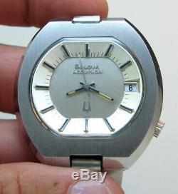 Rare Serviced Vintage 2181 Accutron Stainless Steel Tuning Fork Man's Watch N2
