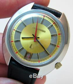 Rare Serviced Vintage 2181 Accutron Stainless Steel Tuning Fork Men Watch N4