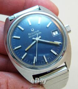 Rare Serviced Vintage 2181 Accutron Stainless Steel Tuning Fork Mens Watch N4
