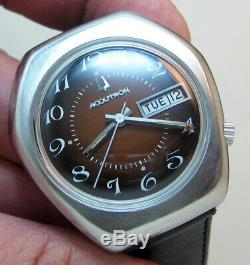 Rare Serviced Vintage 2182 Accutron Stainless Steel Tuning Fork Men Watch N3