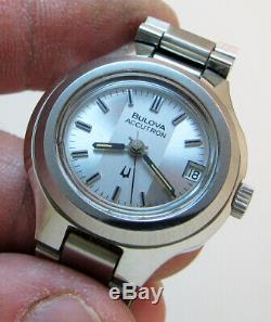 Rare Serviced Vintage 2302 Accutron Stainless Steel Tuning Fork Lady's Watch