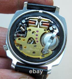 Rare Tv Serviced Bulova Accutron 181 Stainless Steel Tuning Fork Men Watch N2