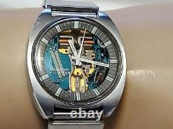 Rare Vintage Bulova Accutron Spaceview T N1 214 Stainless Tuning Fork Men's Watc