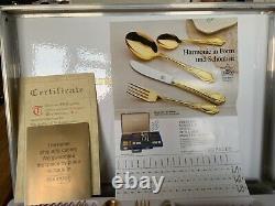 SBS Bestecke Solingen 23/24 carat gold plate cultery set