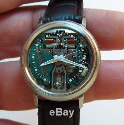Serviced 214 Accutron Spaceview Stainless Steel Tuning Fork Mens Watch N2