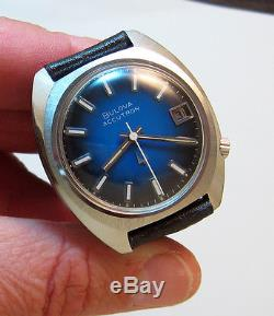 Serviced 218d Accutron Stainless Steel Tuning Fork Men's Watch N1