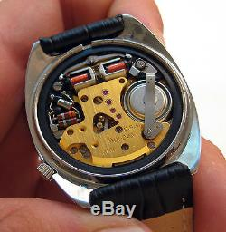 Serviced 218 Accutron Stainless Steel Tuning Fork Men's Watch N0