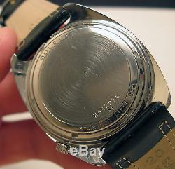 Serviced 218 Accutron Stainless Steel Tuning Fork Men's Watch N1