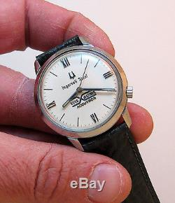 Serviced 218 Accutron Stainless Steel Tuning Fork Men's Watch N5