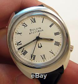 Serviced 218 Accutron Stainless Steel Tuning Fork Men's Watch N6