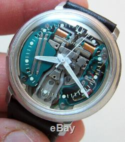 SERVICED ACCUTRON 214 SPACEVIEW STAINLESS STEEL TUNING FORK MENs WATCH M3