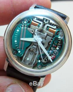 SERVICED ACCUTRON 214 SPACEVIEW STAINLESS STEEL TUNING FORK MENs WATCH M7