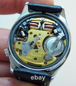 SERVICED ACCUTRON 218D RAILROAD STAINLESS STEEL TUNING FORK MEN's WATCH M7