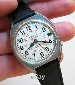 Serviced Accutron Railroad Stainless Steel Tuning Fork Mens Watch N3