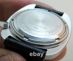 SERVICED BULOVA ACCUTRON 2181 STAINLESS STEEL TUNING FORK MAN's WATCH N0