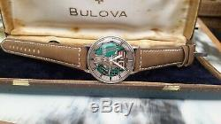 SERVICED Bulova Accutron tuning fork 214 spaceview 35.5mm. 1966
