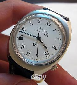 Serviced Vintage 219 Accutron Stainless Steel Tuning Fork Mens Watch N7