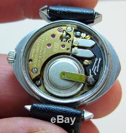 SERVICED VINTAGE 2302 ACCUTRON STAINLESS STEEL TUNING FORK LADY's WATCH N2