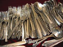STAINLESS STEEL Spoons Forks Servers Wedding or Restaurant Use Craft Lot of 340