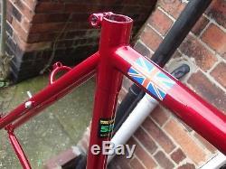 Saracen Reynolds 531 Tubed Frame & Fork In Metallic Red Includes Headset & Stem