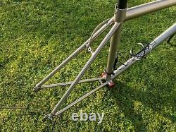 Saratoga Titanium Frameset 56cm Road Bike Frame, Carbon Forks, Bars, Planet x
