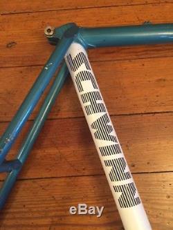 Schwinn 1987 Columbus Tenax Road Bike Frame Fork Frameset 700c 23 Blue