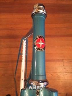 Schwinn 1987 Columbus Tenax Road Bike Frame Fork Frameset 700c 56cm Blue