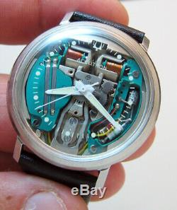 Serviced 214 Accutron Spaceview Stainless Steel Tuning Fork Men's Watch M3