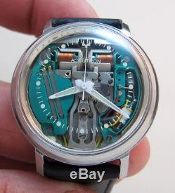 Serviced 214 Accutron Spaceview Stainless Steel Tuning Fork Men's Watch M5