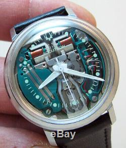 Serviced 214 Accutron Spaceview Stainless Steel Tuning Fork Men's Watch M6