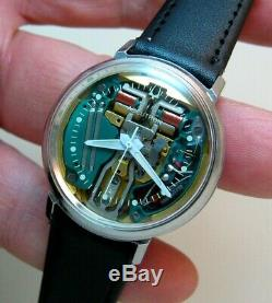 Serviced 214 Accutron Spaceview Stainless Steel Tuning Fork Men's Watch M9