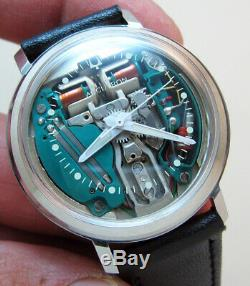 Serviced 214 Accutron Spaceview Stainless Steel Tuning Fork Men's Watch N1