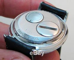 Serviced 214h Accutron Spaceview Stainless Steel Tuning Fork Men's Watch N1
