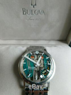 Serviced 214h Bulova Accutron Spaceview Stainless M4 Steeltuning Fork Mens Wat