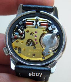 Serviced 2180 Accutron Bulova Stainless Steel Tuning Fork Men's Watch N2