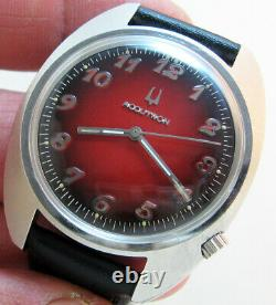 Serviced 2180 Accutron Bulova Stainless Steel Tuning Fork Men's Watch N3