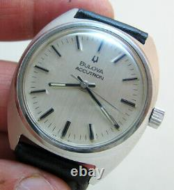 Serviced 2180 Accutron Bulova Stainless Steel Tuning Fork Men's Watch N4