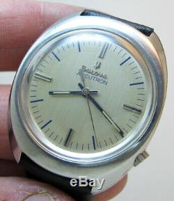 Serviced 2180 Accutron Bulova Stainless Steel Tuning Fork Men's Watch N6