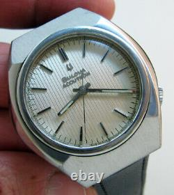 Serviced 2180g Accutron Bulova Stainless Steel Tuning Fork Men's Watch M5
