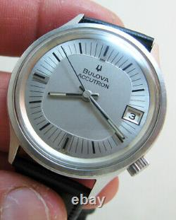 Serviced 2181 Accutron Bulova Stainless Steel Tuning Fork Men's Watch