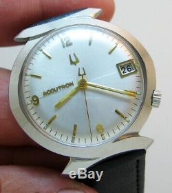 Serviced 2181 Accutron Bulova Stainless Steel Tuning Fork Men's Watch M7